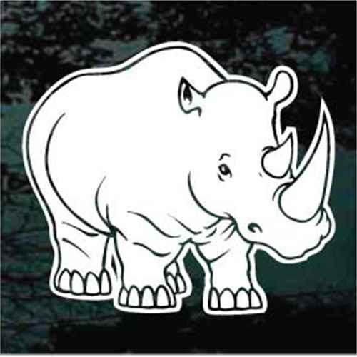 Baby Rhinoceros Decals