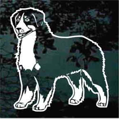 Bernese Mountain Dog Standing Window Decal