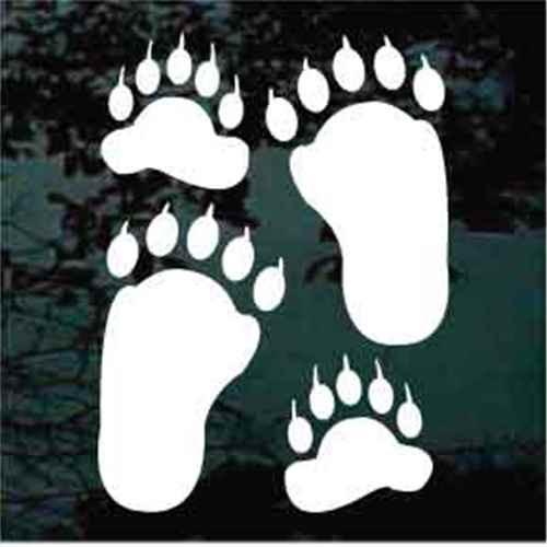 Bear Paw Window Decals