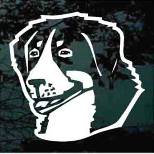 Bernese Mountain Dog Simple Head Window Decal