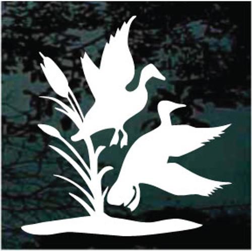 Ducks & Reeds Window Decals