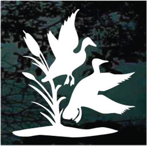 Ducks & Reeds Window Decals
