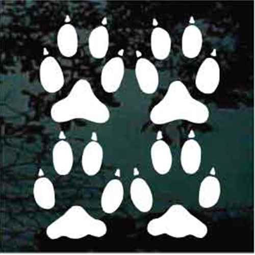 Wolf Tracks Decals