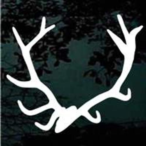 Elk Antlers Window Decals