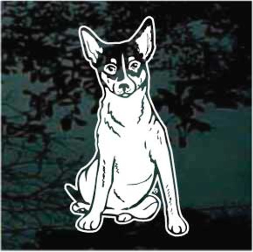 Rat Terrier 02 Window Decal