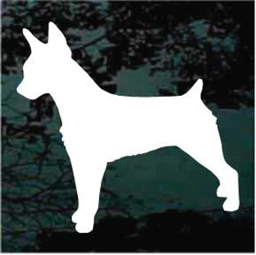 Rat Terrier 01 Silhouette Window Decal
