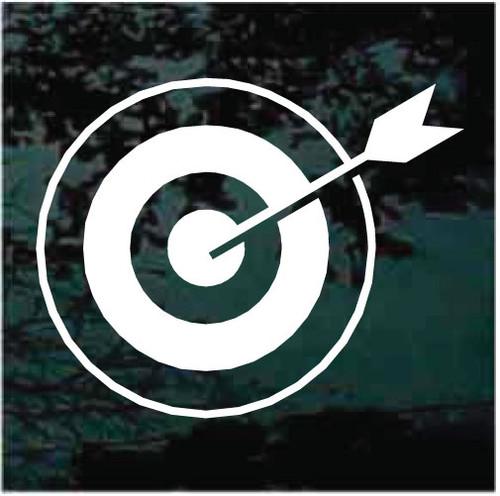 Archery Target Bullseye Arrow Window Decals