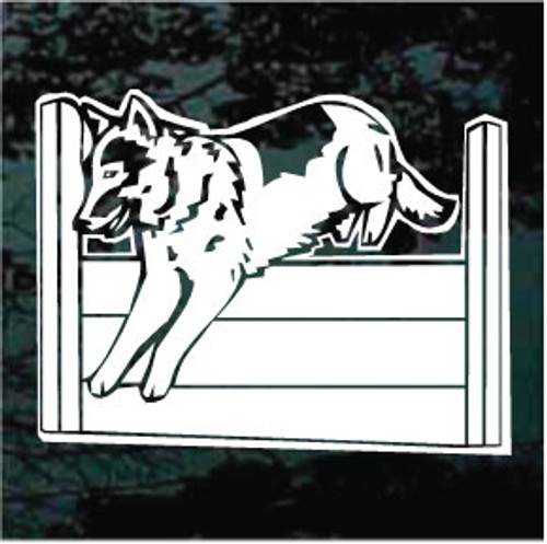 German Shepherd Agility Jump Window Decal
