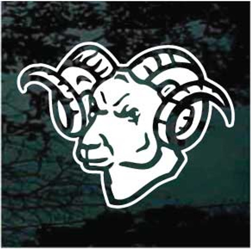 Attractive Ram Head Window Decals