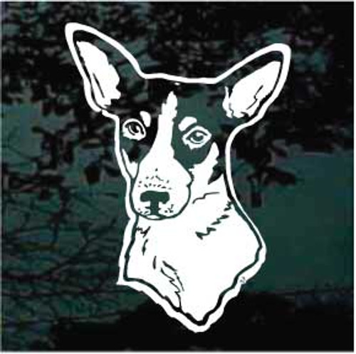 Excellent Rat Terrier Head Decals