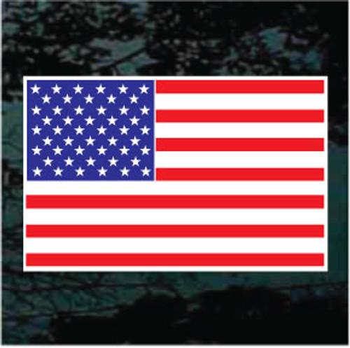 Flat American Flag Window Decals