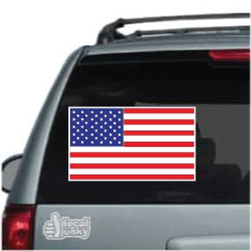 Flat American Flag Car Decals