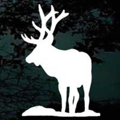 Elk Silhouette 01 Window Decal