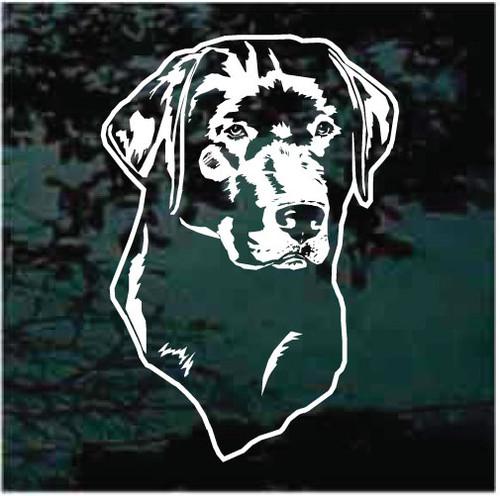 American Vinyl BLACK LAB ON BOARD Sign Shaped Sticker labrador dog breed decal