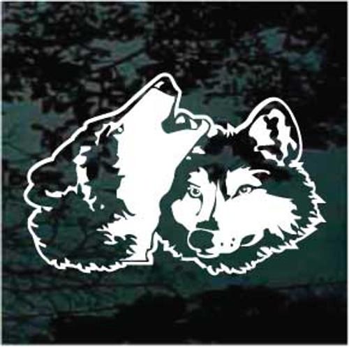 Pair Of Wolf Heads