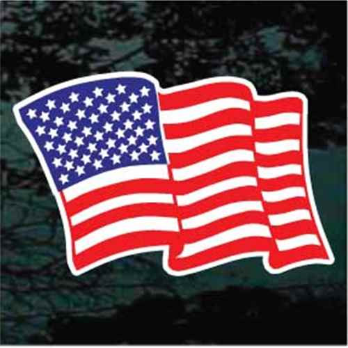 American Flag 01 Window Decal
