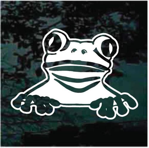 Cute Peeking Frog Window Decals