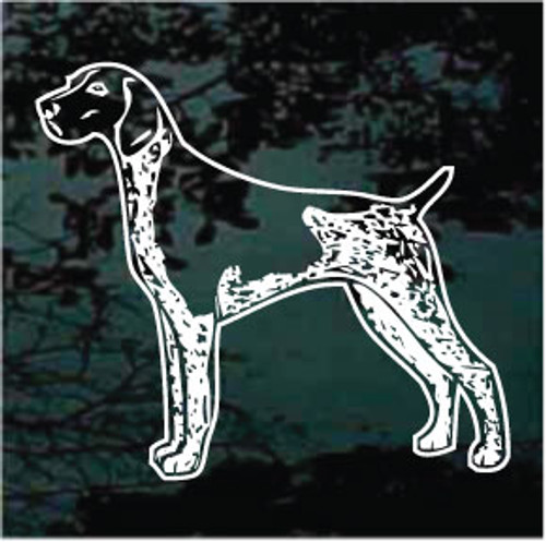 German Shorthaired Pointer Standing Window Decal