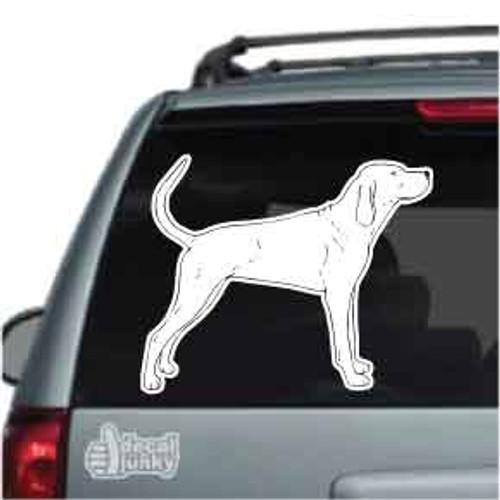 Redbone Coonhound Car Decal
