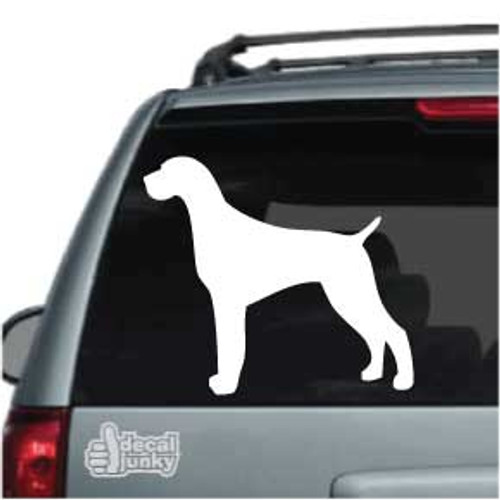 German Shorthaired Pointer 03 Silhouette Car Decal