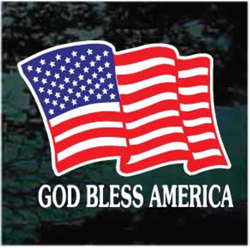 /'Merica USA Patriotic Bass swimming left Stars /& Stripes sticker decal