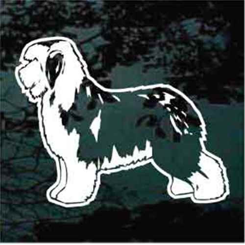Old English Sheepdog Profile Decals