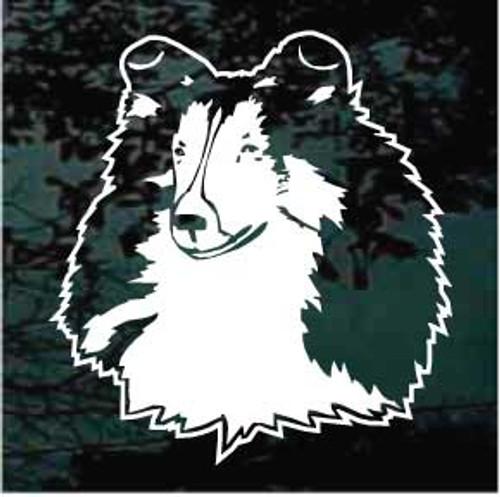 Shetland Sheepdog Head Decals