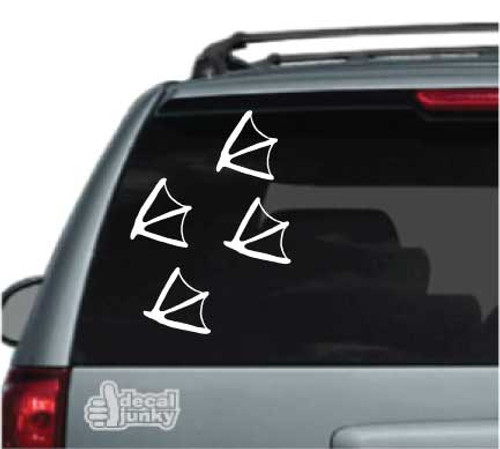 Set of 4 Duck Tracks Car Decal