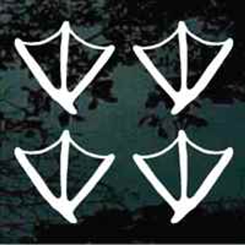 Set of 4 Duck Tracks Window Decal