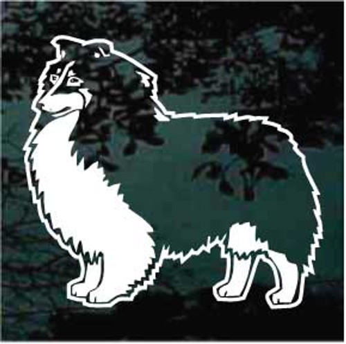 Shetland Sheepdog Standing Decals