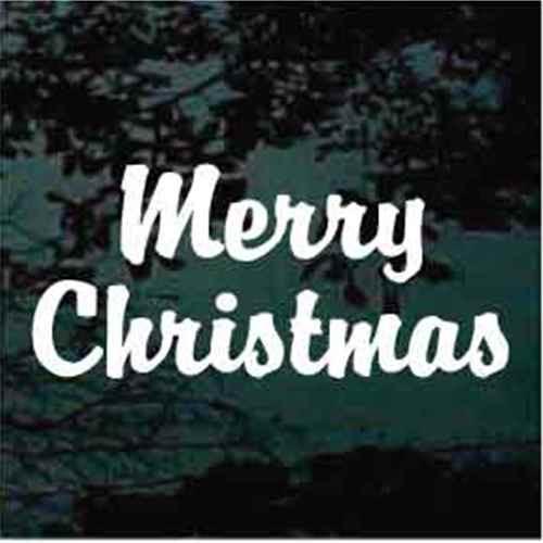 Merry Christmas - Brandy Script Text