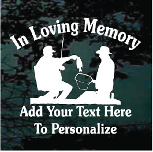 Fishing Silhouette Memorial Decals