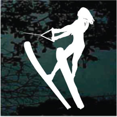 Water Skiing Silhouette 02 Decals