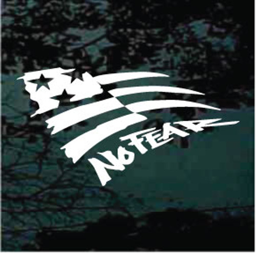 No Fear American Flag Window Decals