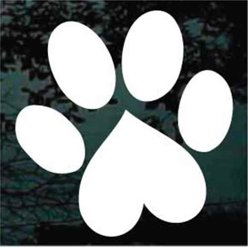 fe46ed1bb89c8 Dog Paw Prints Decals   Window Stickers Personalized