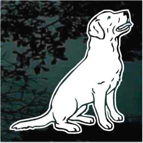 Labrador Retriever Begging Window Decal