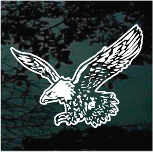 Detailed Flying Eagle Window Decals