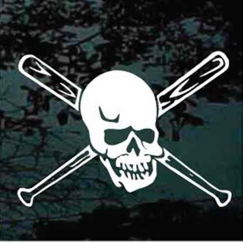 Baseball Bats Skull Window Decals