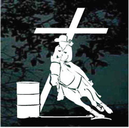 Barrel Racing At The Cross