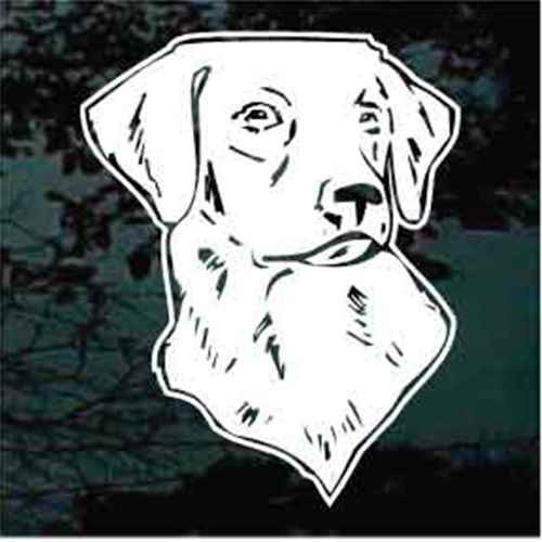 Labrador Retriever Detailed Head Window Decal