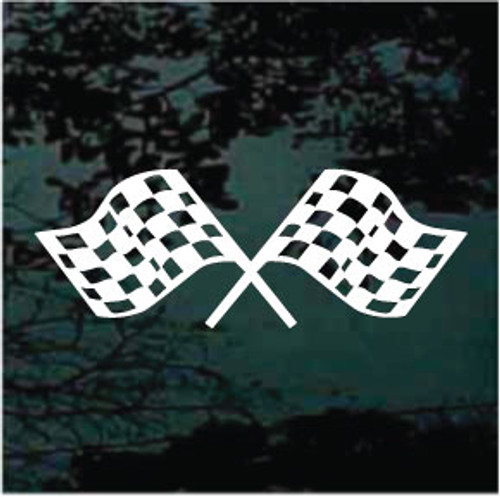 Checkered Race Flags Window Decal