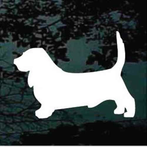 Basset Hound Silhouette Window Decals