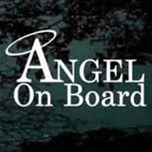 Angel On Board Window Decals