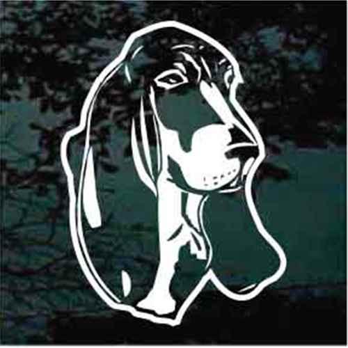 Basset Hound Head Decals