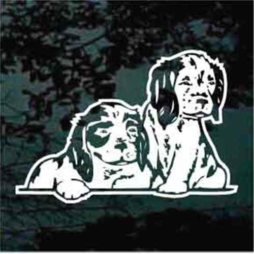 Two Cocker Spaniel Puppies Window Decal
