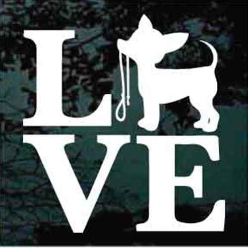 Chihuahua Love Window Decal