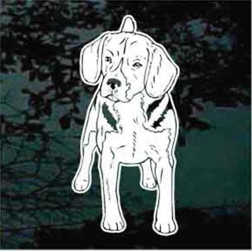 Beagle Facing Decal