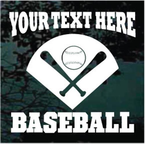 Base With Bats & Baseball Window Decals