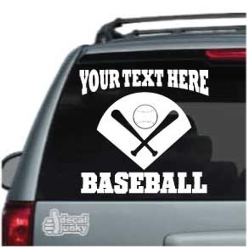 Base With Bats & Baseball Car Decals