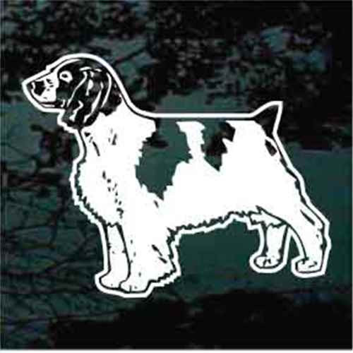 Standing Welsh Springer Spaniel Window Decals